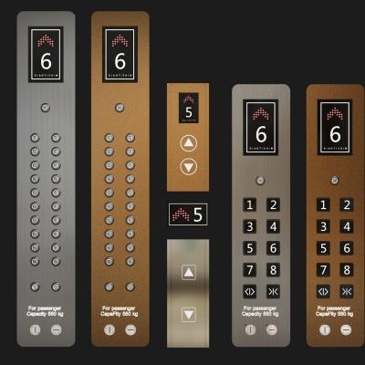 现代金属电梯按钮3D模型