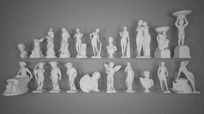 现代雕像3D模型