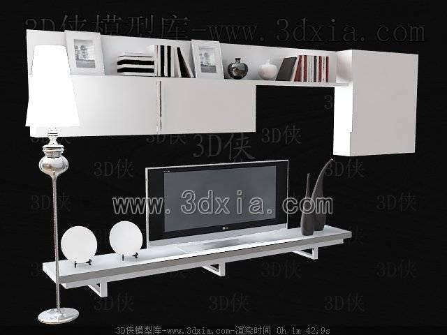 电视柜3D模型-版本2009-384