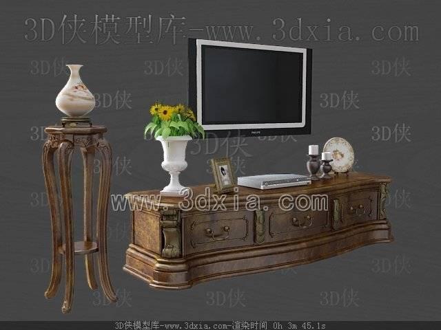 电视柜3D模型-版本2009-a340