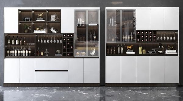 现代酒柜3D模型
