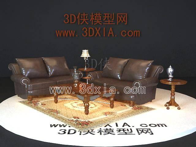 沙发组合3D模型-版本2009-a6167
