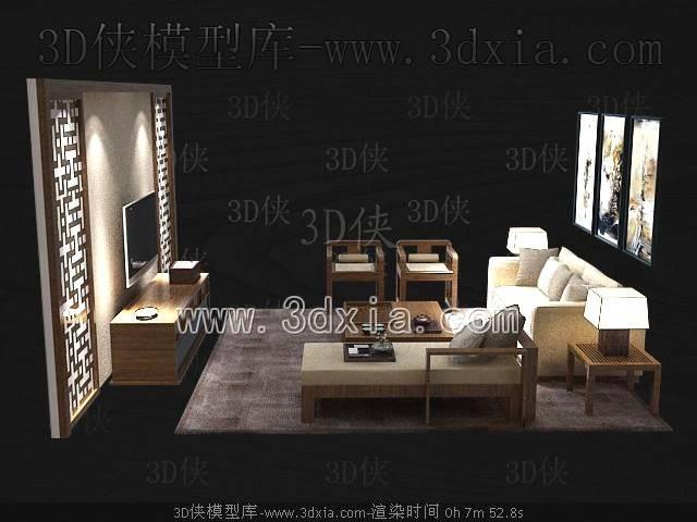 沙发组合3D模型-版本2009-a7178