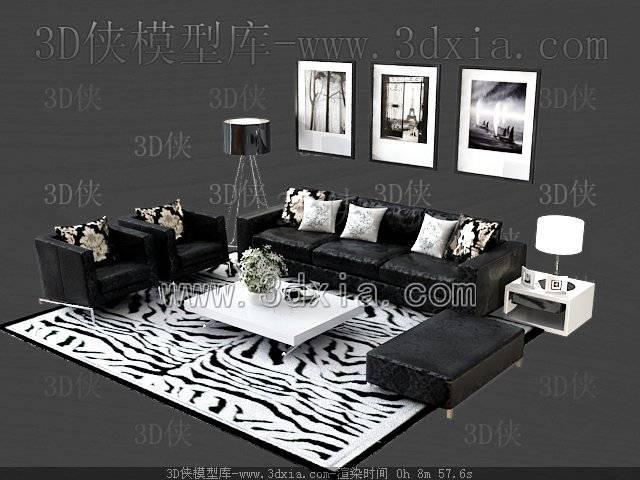 沙发组合3D模型-版本2009-a7183
