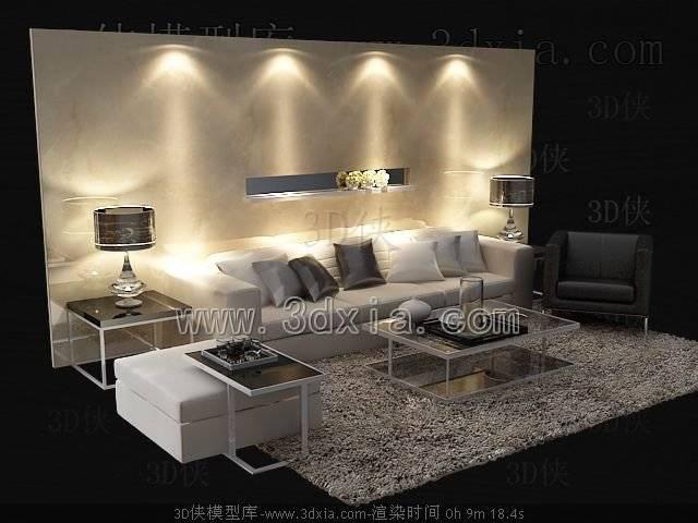 沙发组合3D模型-版本2009-a7330