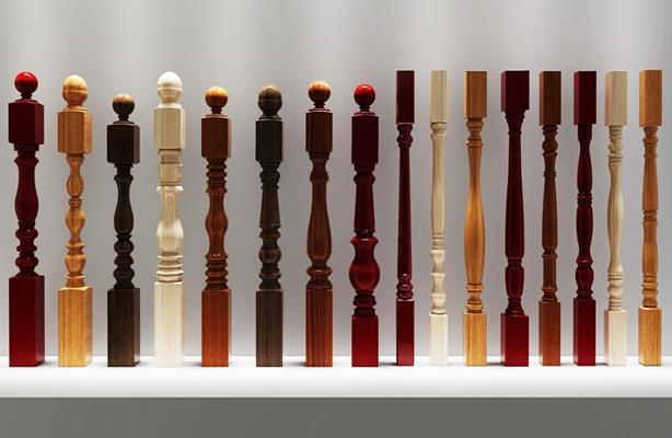 欧式实木楼梯栏杆立柱扶手 欧式栏杆立柱 木质立柱