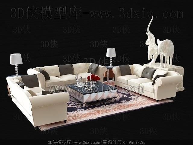 沙发组合3D模型-版本2009-b59