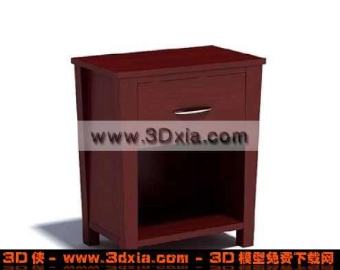 别致的3D红木柜子3D模型