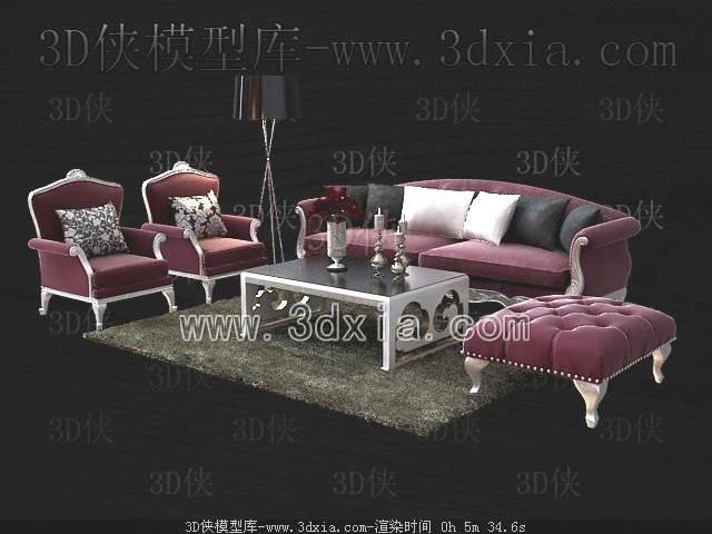沙发组合3D模型-版本2009-103