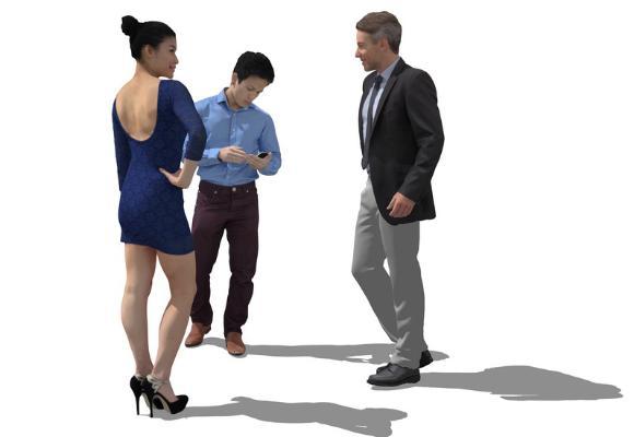 3D人物组合SU模型
