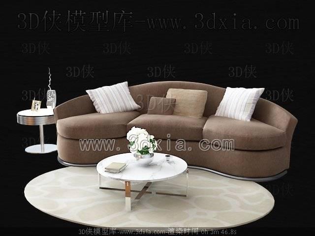 沙发组合3D模型-版本2009-204