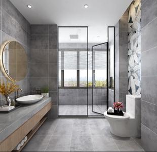 现代卫生间 现代卫浴 台盆 卫浴柜 马桶 淋浴间