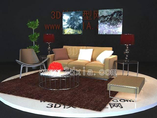 沙发组合3D模型-版本2009-319