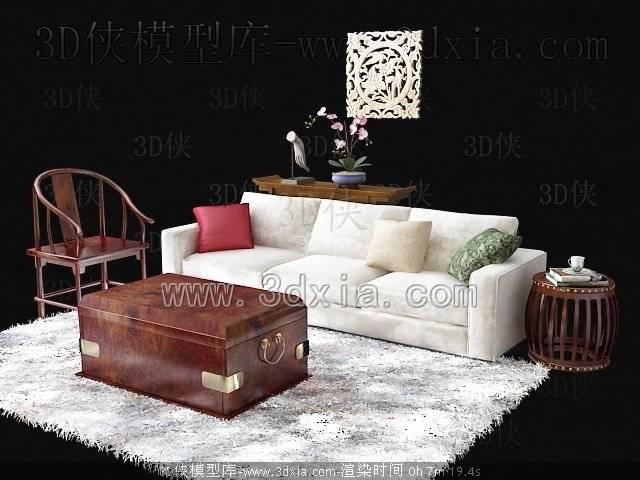 沙发组合3D模型-版本2009-39