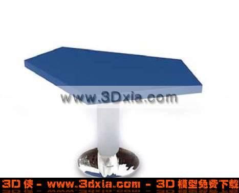 特别的五角形桌子3D模型