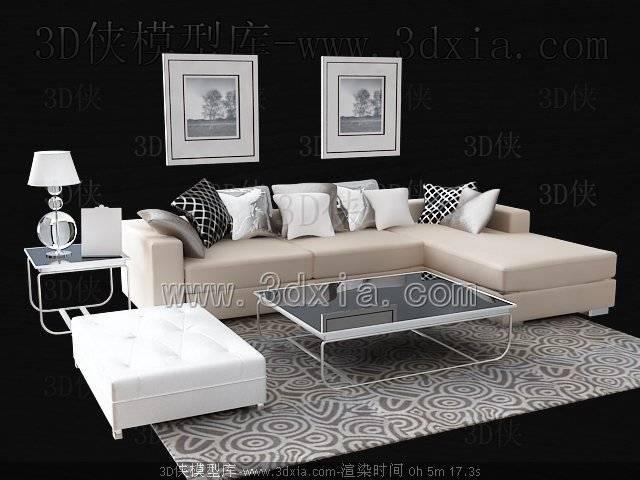 沙发组合3D模型-版本2009-356