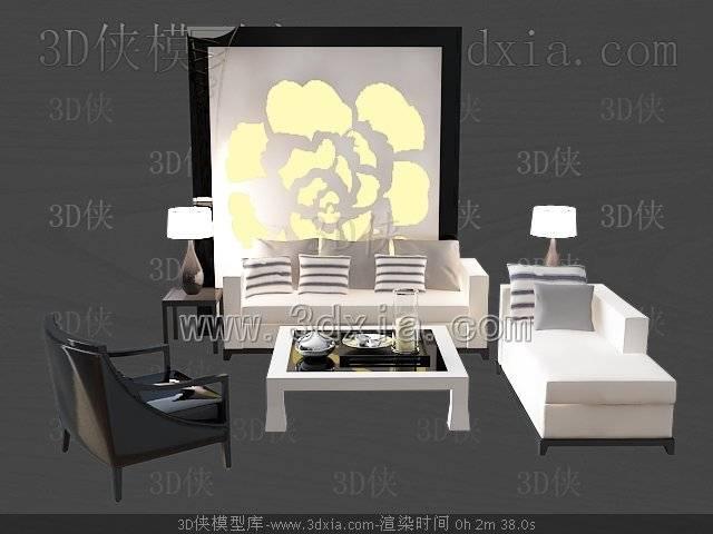 沙发组合3D模型-版本2009-392
