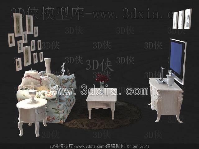沙发组合3D模型-版本2009-491