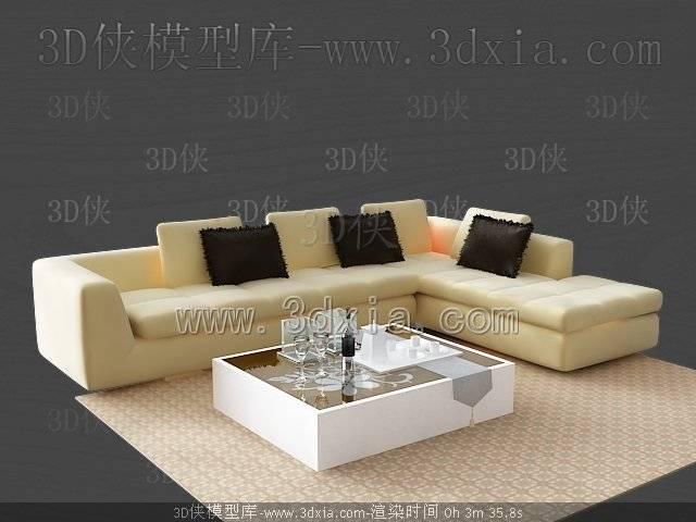 沙发组合3D模型-版本2009-500
