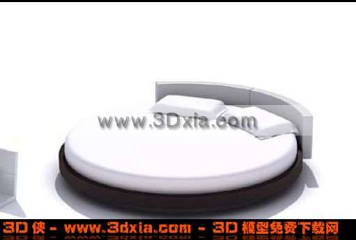 3D超级个性的双人圆床模型