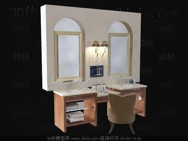 洗手台3D模型-版本2009-450