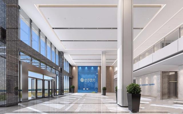 现代办公大厅 现代前台接待 办公大厅 前台接待 等候区 绿植