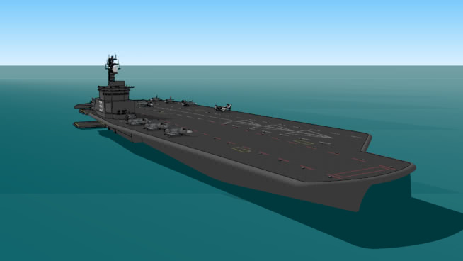 门茅quipage飞机和飞机。 潜艇 航空母舰 防波堤