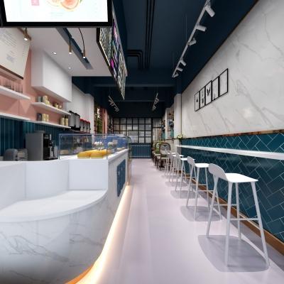 北欧网红奶茶店3d模型