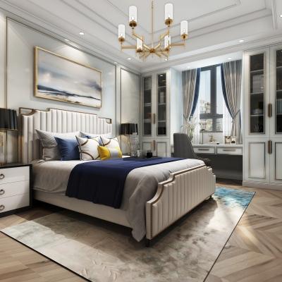 美式奢华卧室主人房3D模型