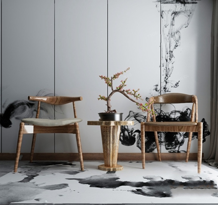 中式休闲椅3D模型