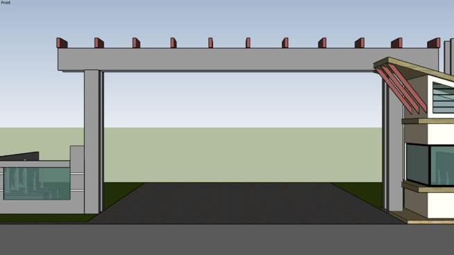 入口大门 室外 其他 相框 活动房屋 床