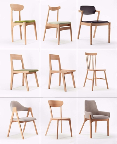 北欧单体椅子组合 北欧椅子 单椅 椅子组合