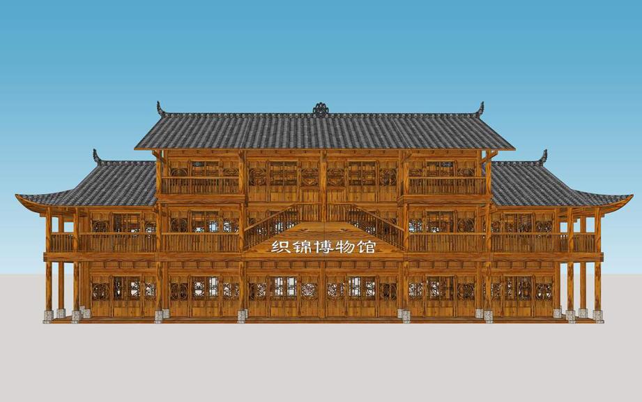 土家族织锦博物馆SU模型