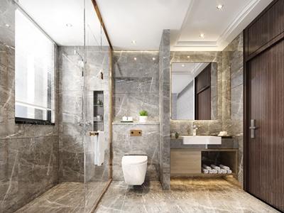 现代卫生间 现代卫浴 洗手台 马桶 淋浴间 台盆柜 毛巾 卫生间 玻璃隔断