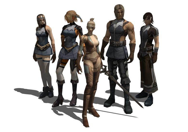 3D游戏人物SU模型