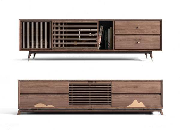 新中式电视柜 新中式电视柜 实木电视柜 电视柜组合