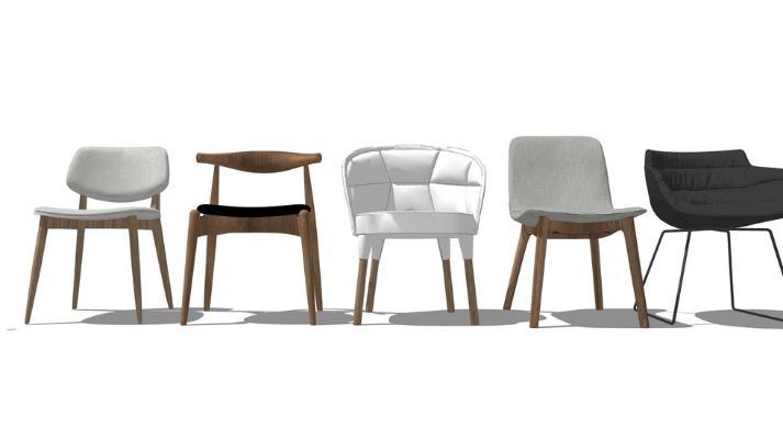 休闲椅子组合SU模型
