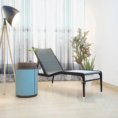 现代躺椅边几组合 现代躺椅 边几 落地灯 盆栽
