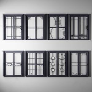 新中式厨房门组合 新中式门 厨房门 推拉门 移门