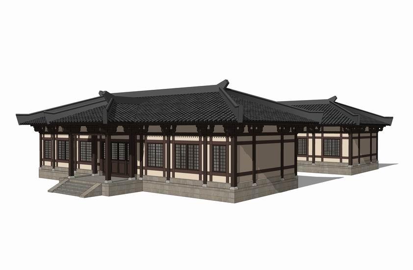 中式大殿SU模型