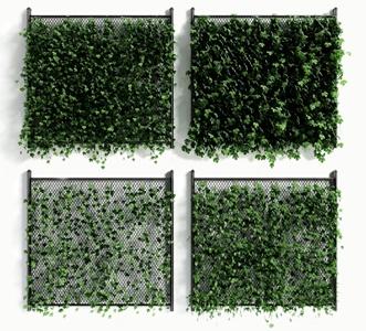 现代绿植墙 现代植物墙 绿植墙组合
