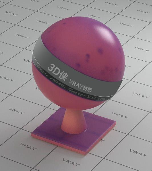 红紫色半透明塑料Vray材质下载