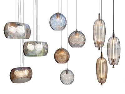 现代玻璃小吊灯3d模型