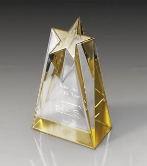 奖杯 现代摆件 玻璃奖杯