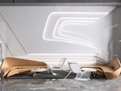 后現代異形沙發組合3d模型
