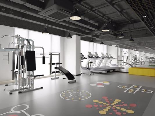 健身房 工业风健身房 器材 跑步机