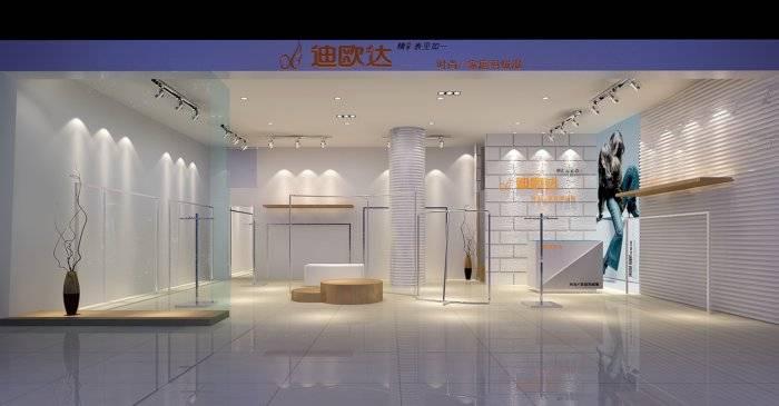 羽绒服店铺3D模型