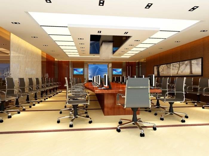 3D会议室装修图