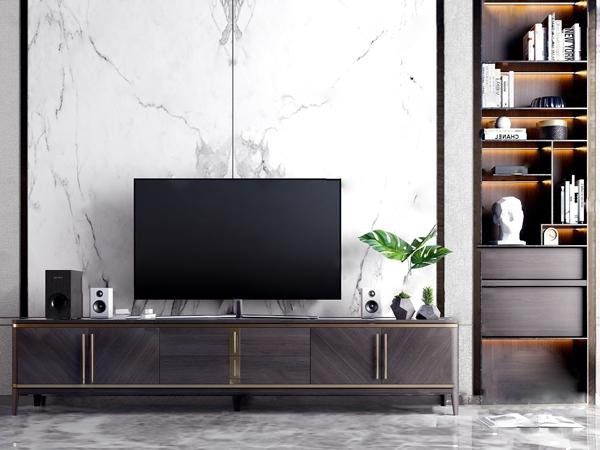 现代轻奢电视柜摆件组合
