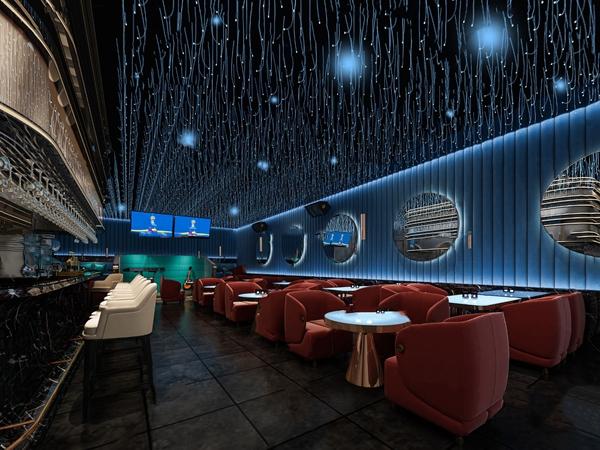现代酒吧清吧3d模型